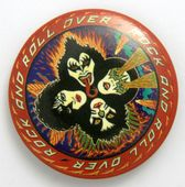 Kiss - 'Rock and Roll Over' Large Button Badge
